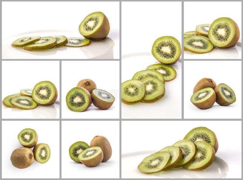 Collage of kiwi stock photography