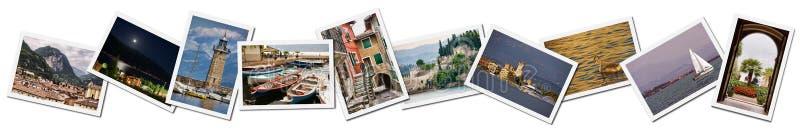 Collage of Lake Garda photos royalty free stock photo