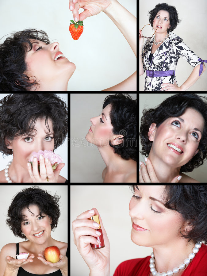 collage lifestyle woman στοκ εικόνα