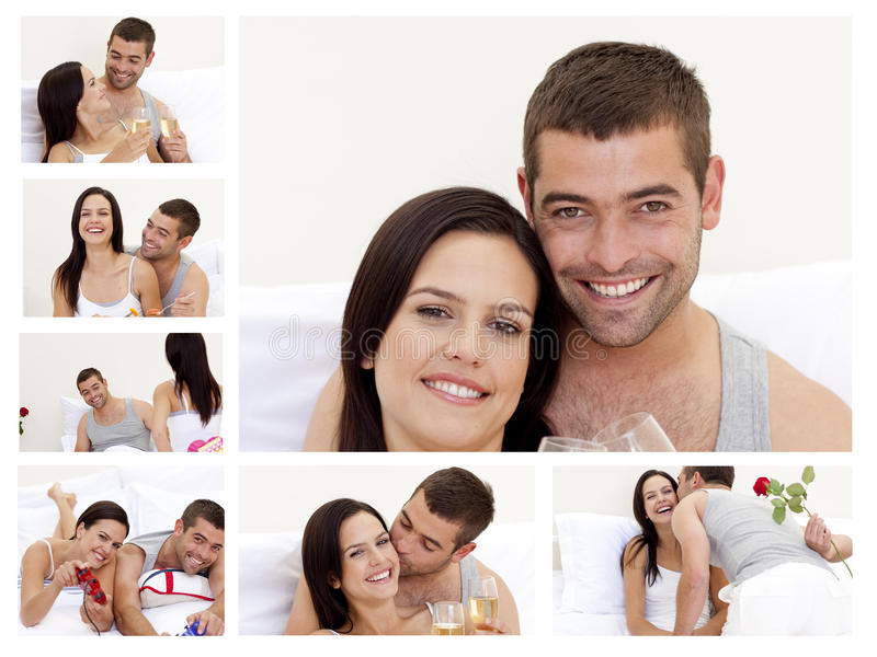 Download Collage Of A Lovely Couple Enjoying The Moment Stock Image - Image of female, lifestyle: 19702955