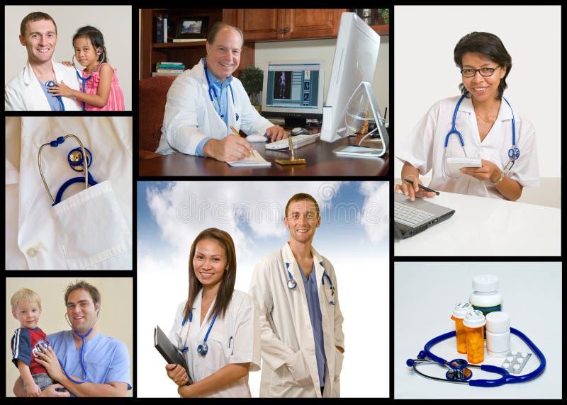 Collage médico fotos de archivo