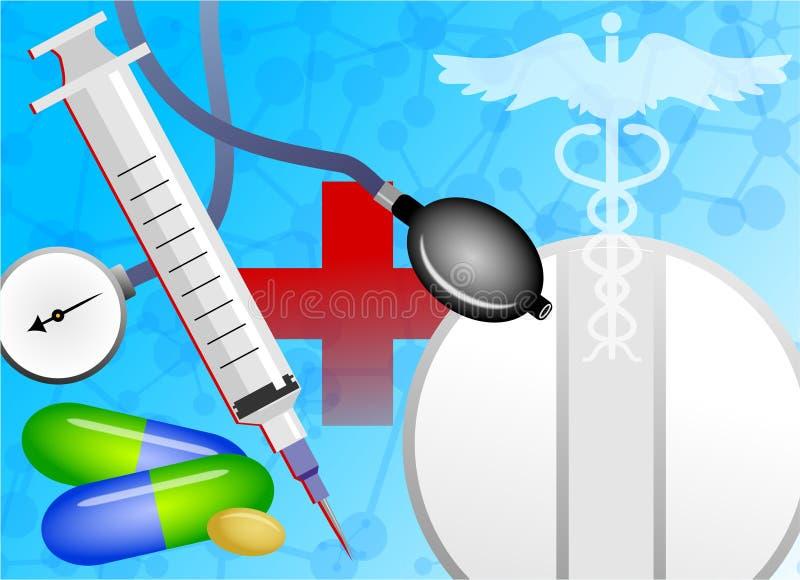 Collage médico ilustración del vector
