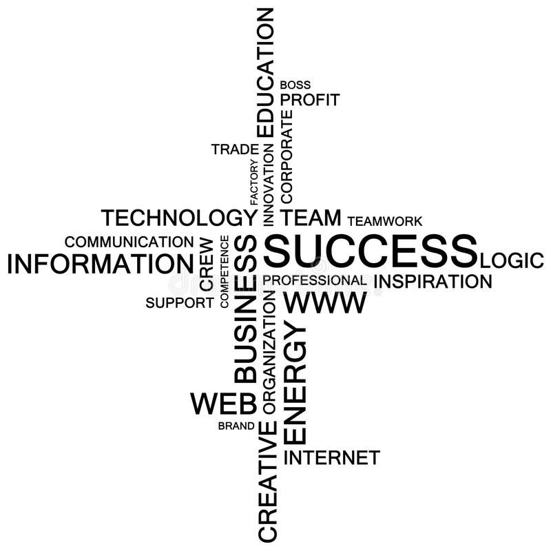 A collage made of words on the topic of business