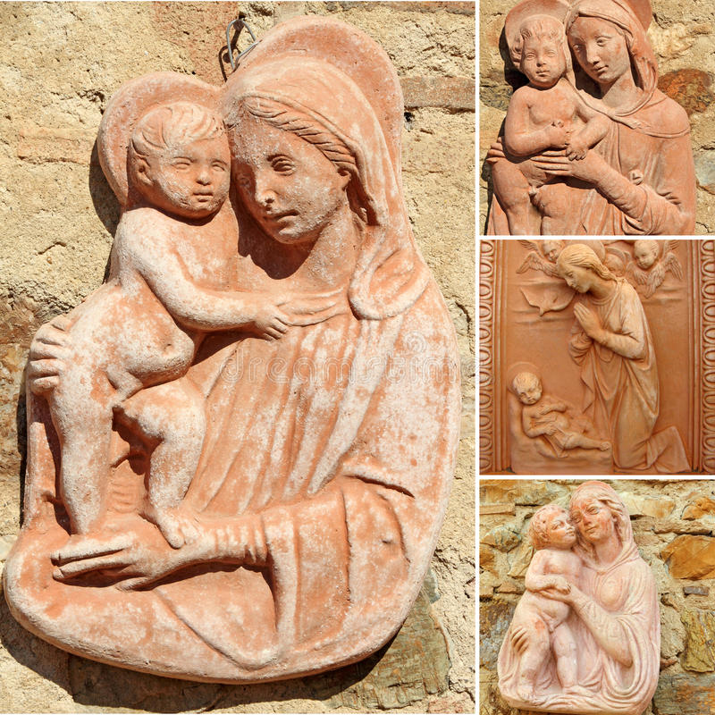 Download Collage With Madonna And Child Stock Photo - Image: 22625592