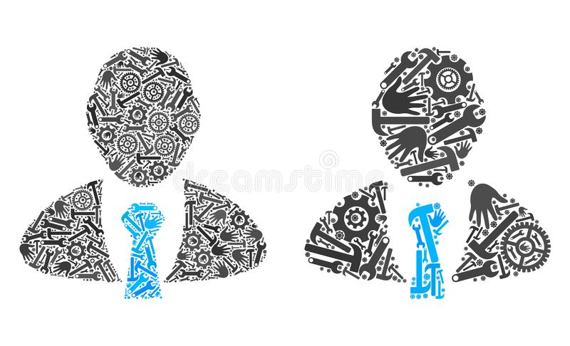 Collage Manager Icons of Repair Tools royalty free illustration