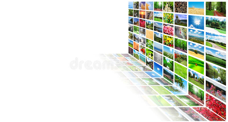 Download Collage of many  photos stock photo. Image of photograph - 23498496