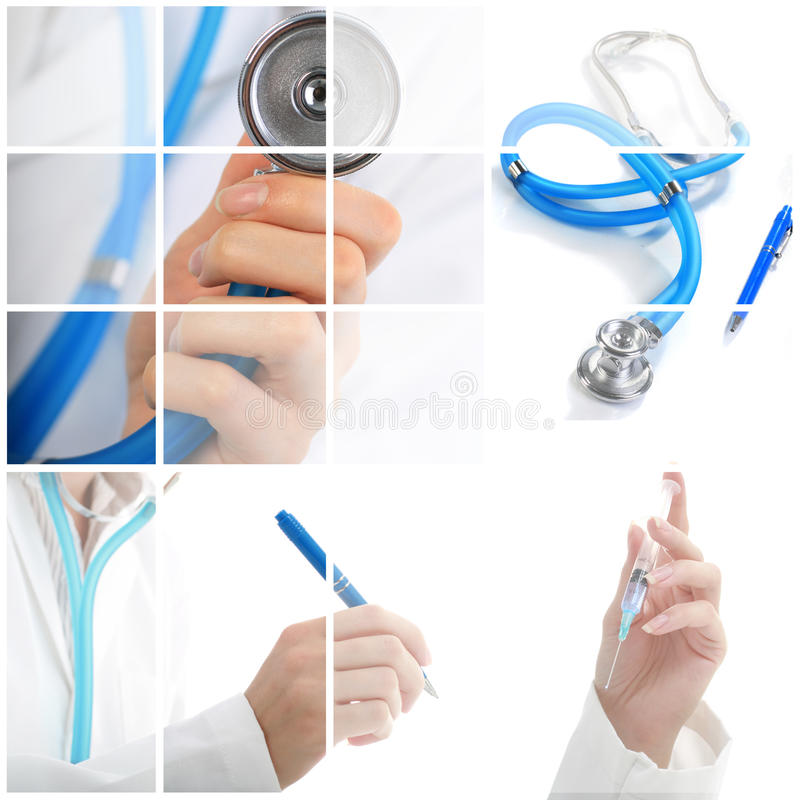 Collage. Medical concept. royalty free stock images