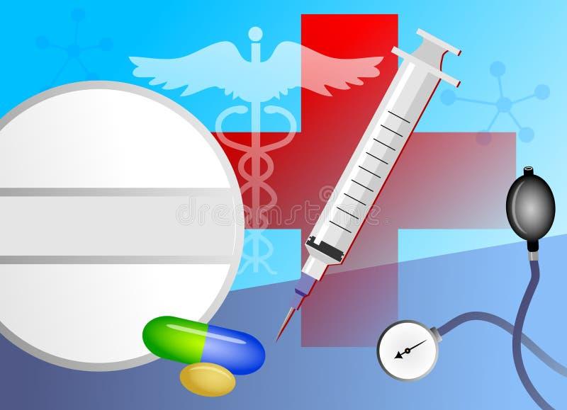 Collage medico illustrazione di stock