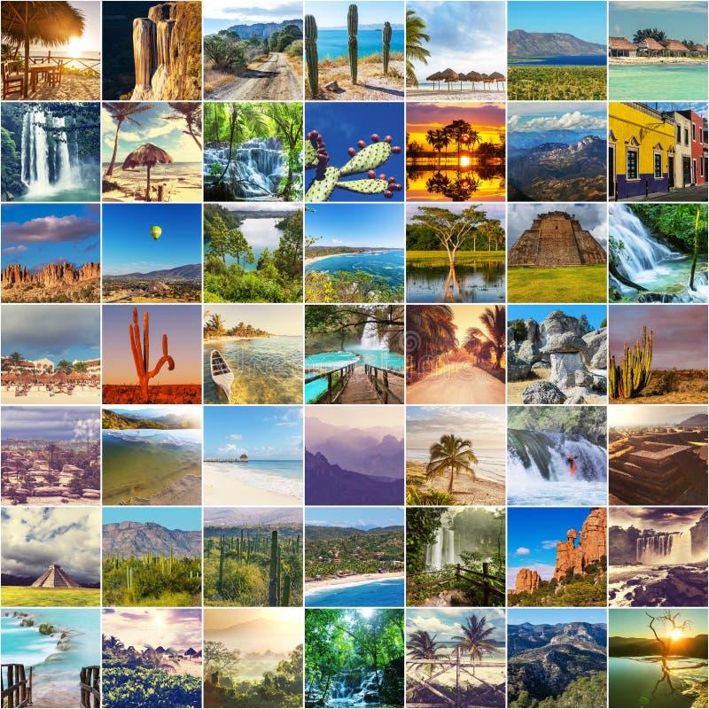 Collage messicano fotografie stock libere da diritti
