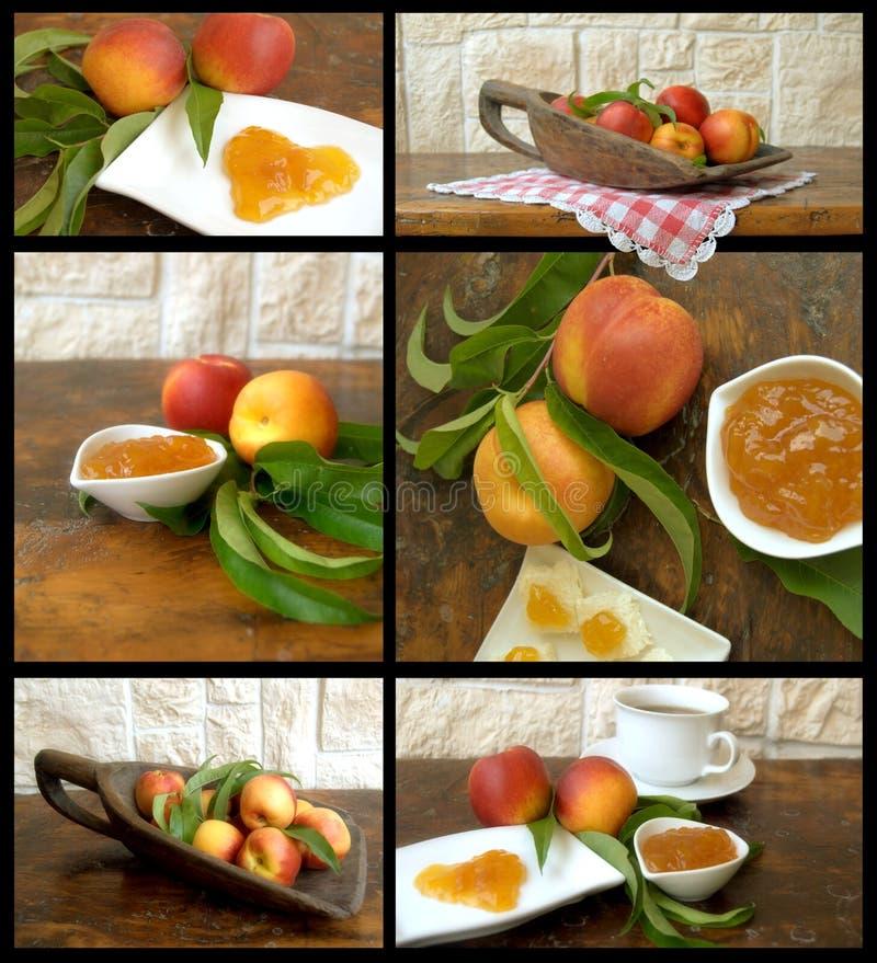 Collage met fruit en jam royalty-vrije stock foto