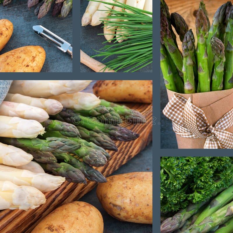 Collage met gezonde groenten royalty-vrije stock afbeeldingen
