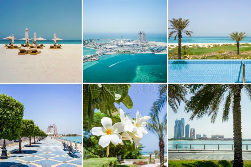 Collage met mooie meningen van Abu Dhabi royalty-vrije stock foto's