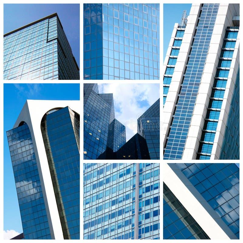 Collage moderne de constructions photographie stock