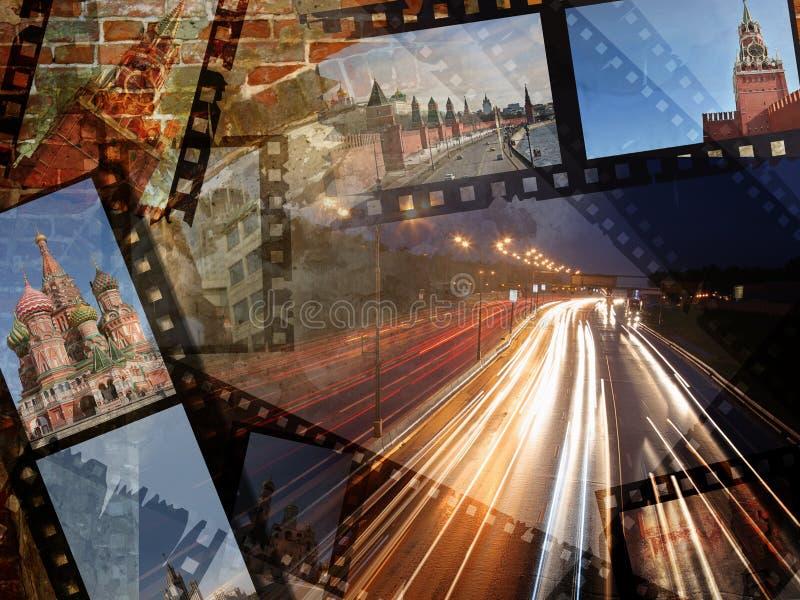 Collage Mosca della foto di corsa illustrazione di stock
