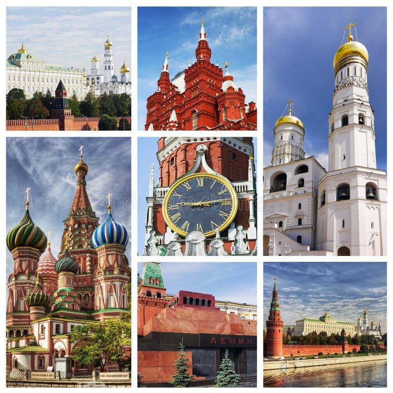 Collage Moskau Kremlin lizenzfreies stockbild