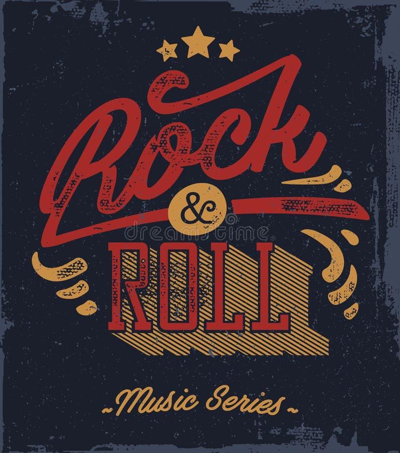 Collage musical - l'illustration de vecteur d'art de bruit avec des personnes, les instruments de musique et l'inscription bascul illustration de vecteur