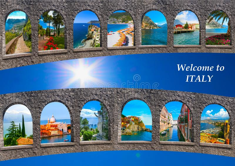 Download Collage From My Or Author Images Of Italian Travel Destinations Stock Photo