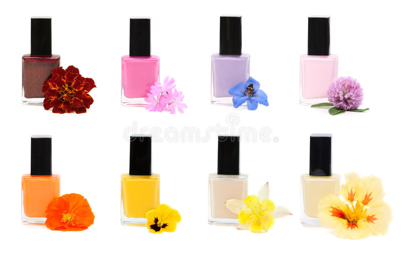 Download Collage Nail Polish With Flower Stock Photos - Image: 26378283
