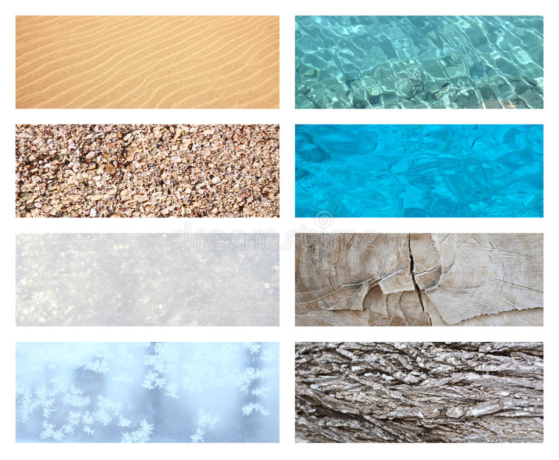Collage with nature texture stock images