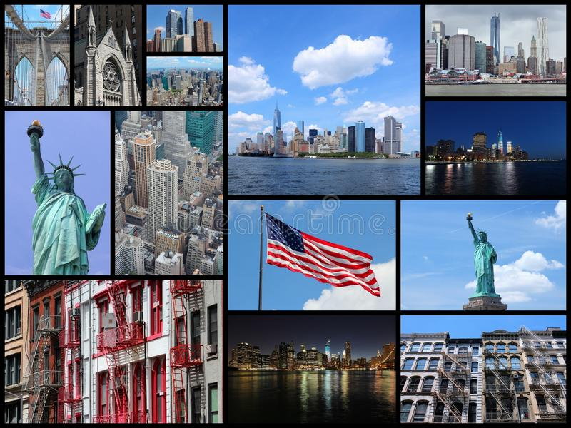 collage New York arkivbilder