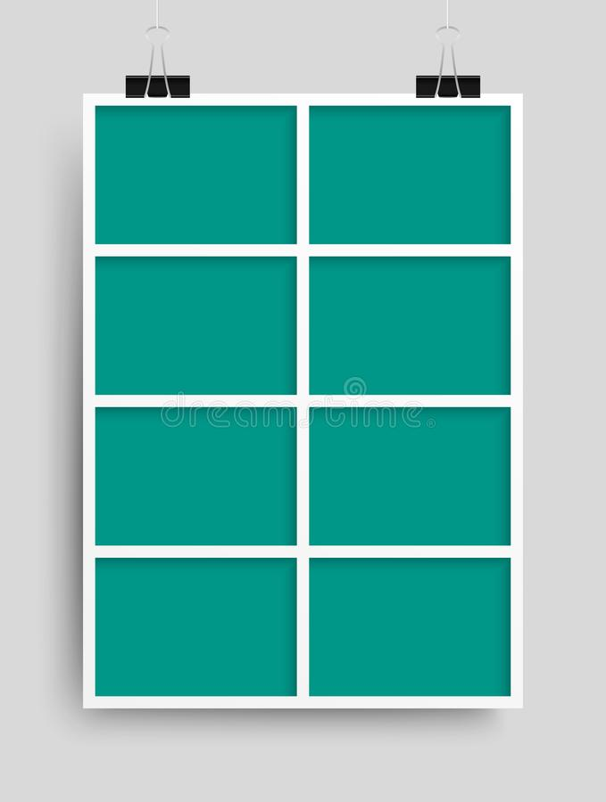 Collage ocho marcos para la foto o el ejemplo stock de ilustración