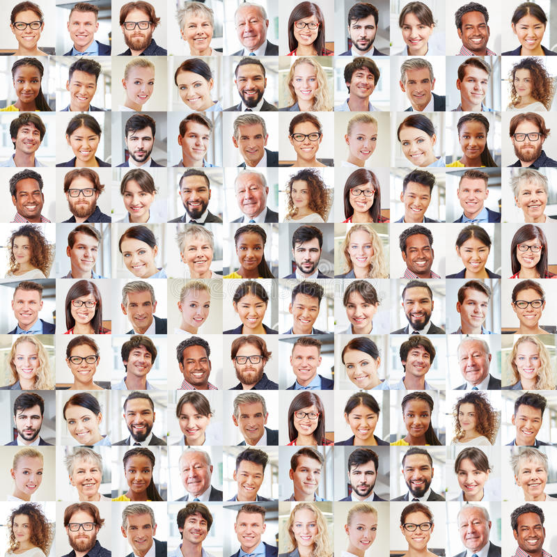 Free Collage Of Business People Portraits Stock Photo - 92955830