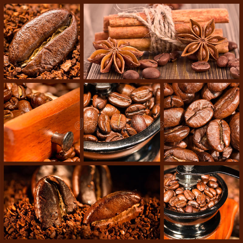 Free Collage Of Coffee. Royalty Free Stock Photo - 37110405