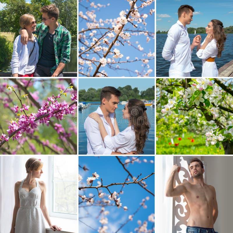 Collage op het thema van liefde stock foto