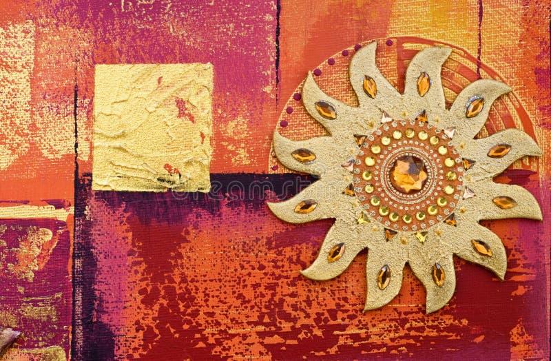 Collage oriental illustration stock