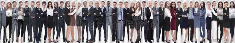 Collage panorámico de un equipo grande y acertado del negocio foto de archivo libre de regalías