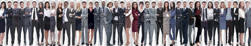 Collage panorámico de un equipo grande y acertado del negocio fotos de archivo libres de regalías