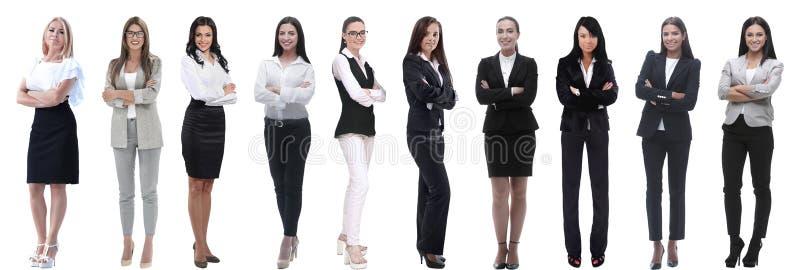Collage panor?mico de un grupo de mujeres de negocios jovenes acertadas fotos de archivo libres de regalías