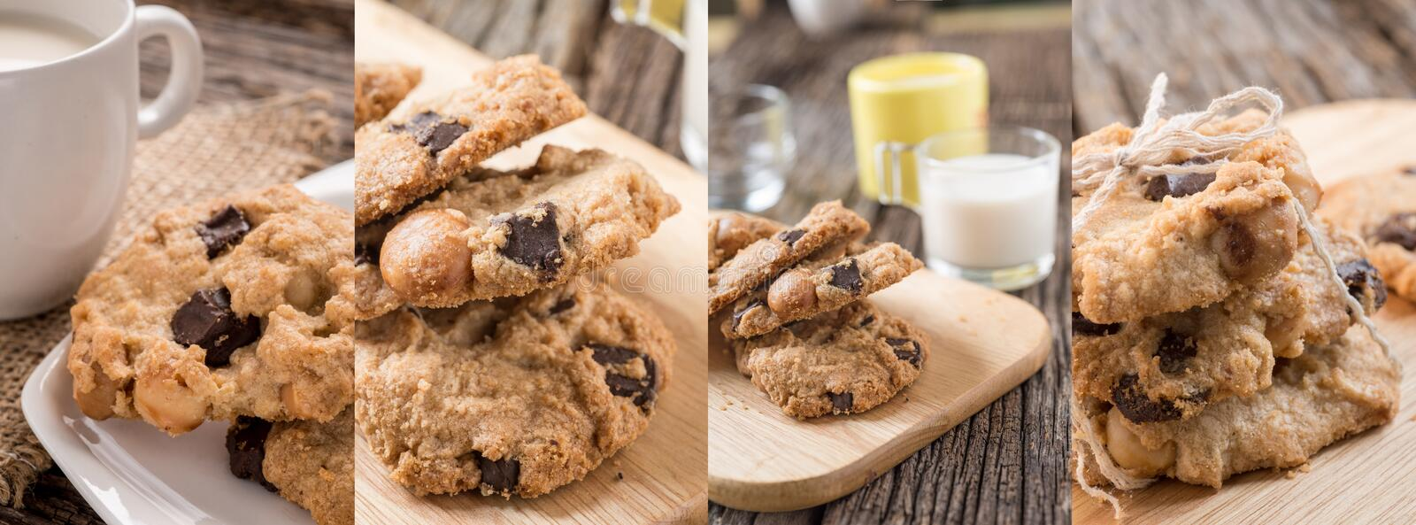 Collage photos of Cookies royalty free stock photos