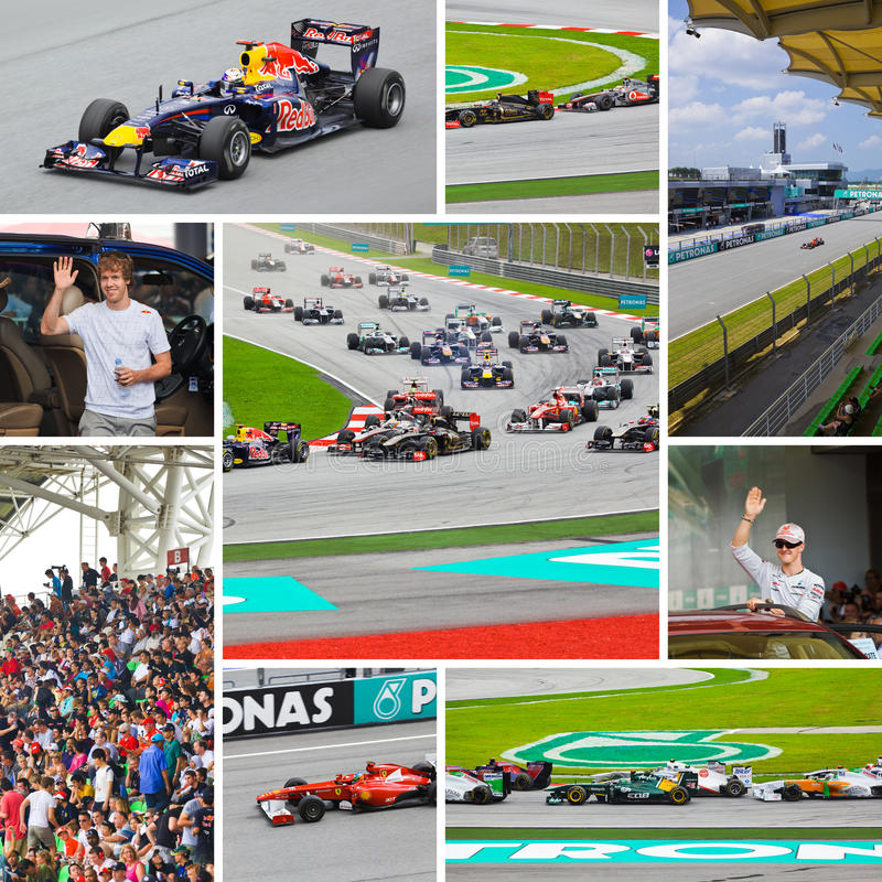 Collage of photos of Formula-1