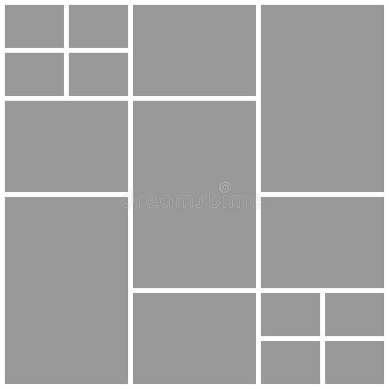 Collage quindici strutture, foto, parti o immagini illustrazione vettoriale