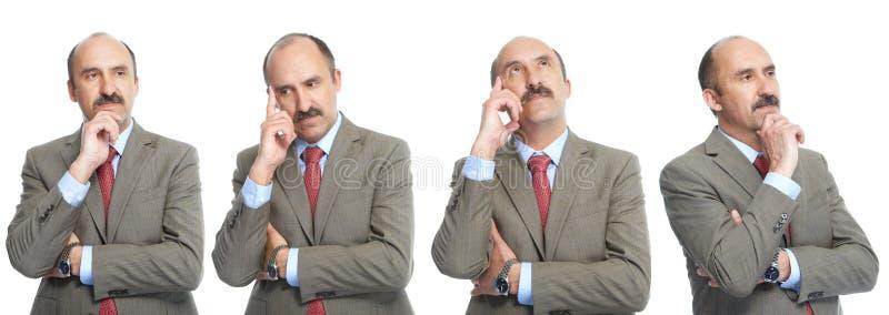 Collage.  Reflexión. El hombre de negocios fotos de archivo