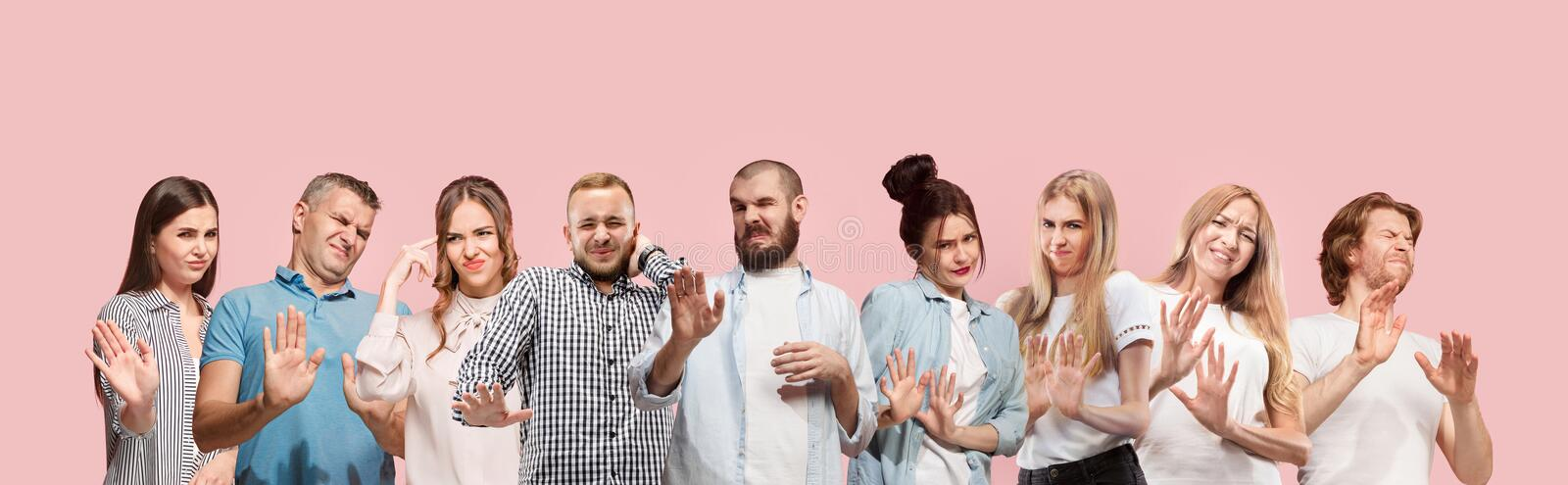 Reject, rejection, doubt concept. stock images