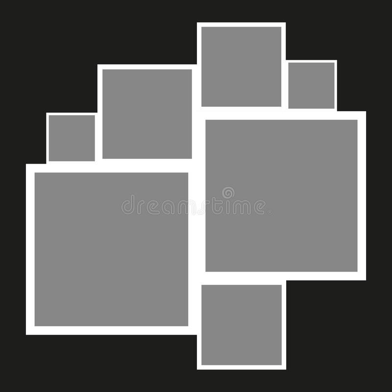 collage Schablonencollage Feld f?r Foto Auch im corel abgehobenen Betrag vektor abbildung