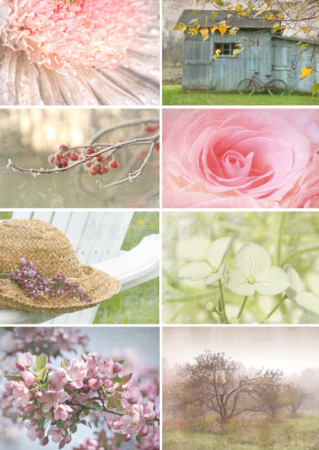 Download Collage Of Seasonal Images With Vintage Look Stock Images - Image: 18868204