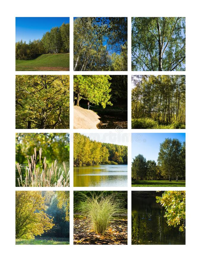 Collage September stock foto's