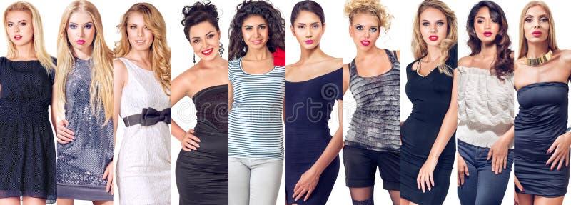 Collage set of women stock photo