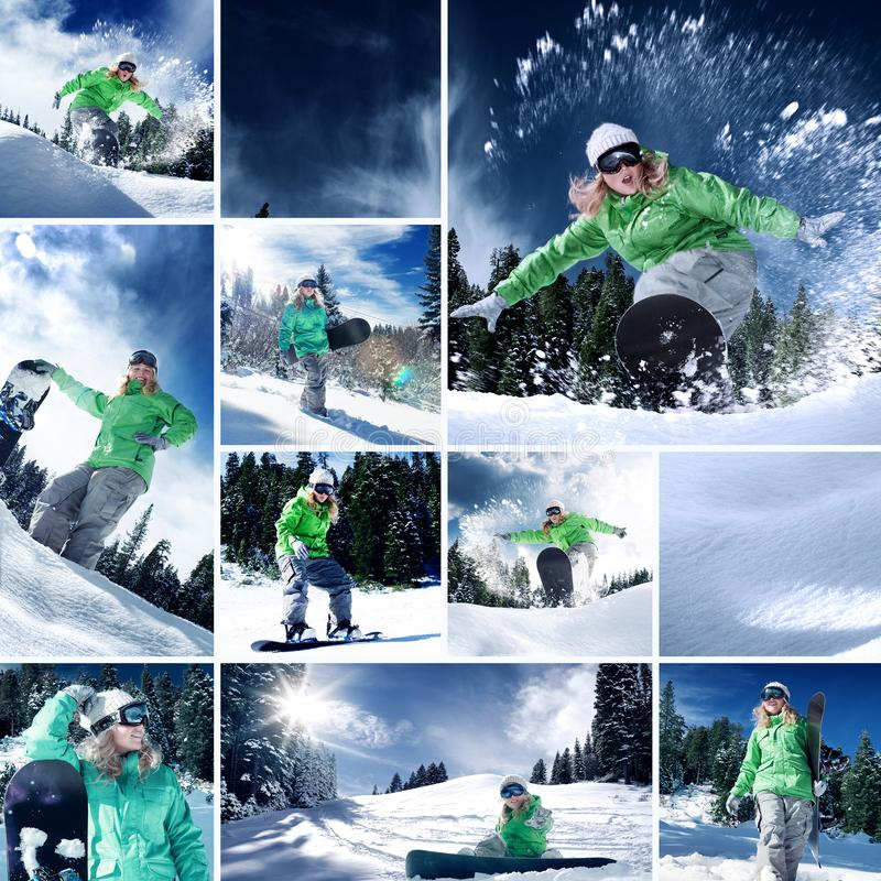 Collage som komponeras av några olika bilder arkivfoto