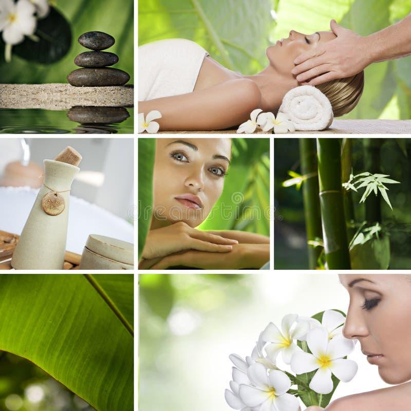 collage spa στοκ φωτογραφία με δικαίωμα ελεύθερης χρήσης
