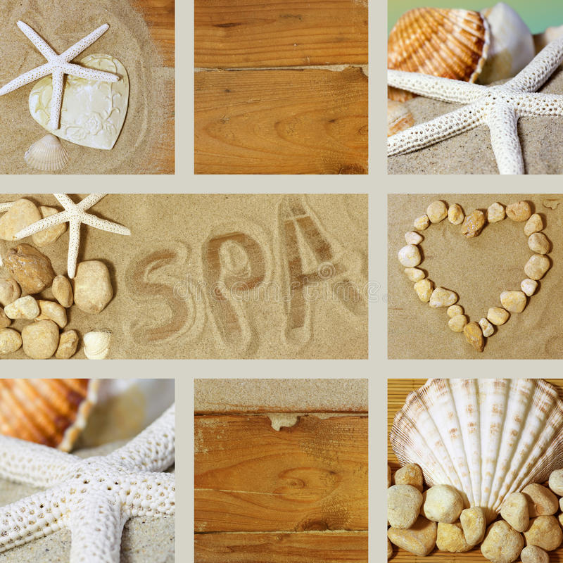Collage spa royalty free stock image
