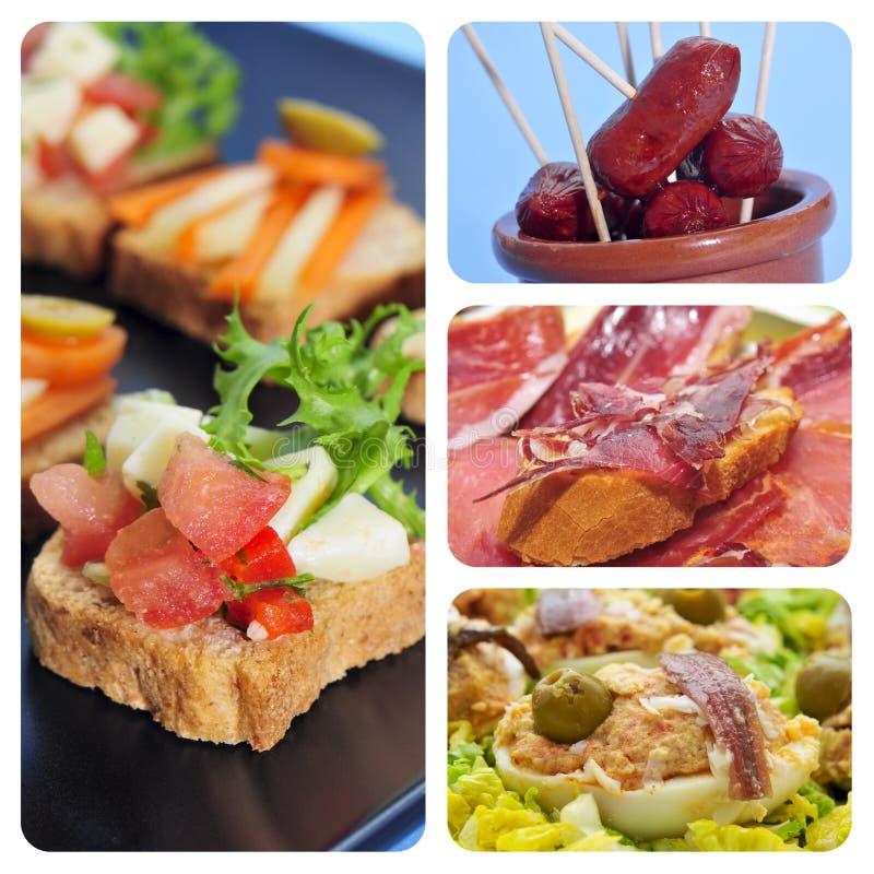 Collage spagnolo dei tapas immagine stock