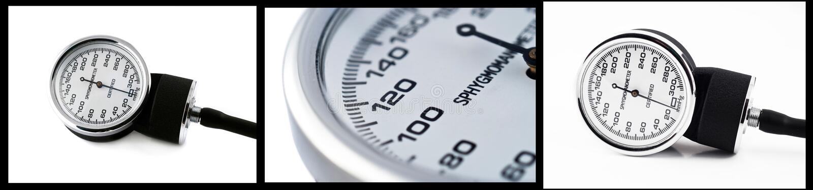 Download Collage Of Sphygmomanometer Close Up Photos Stock Photo - Image: 10454950