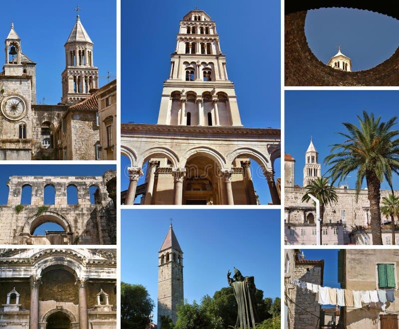 Collage - Split (Croatia) royalty free stock images