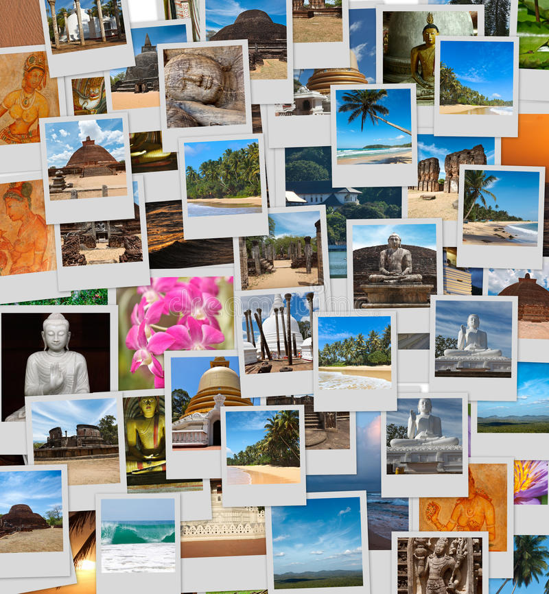 Collage of Sri Lanka images royalty free stock image