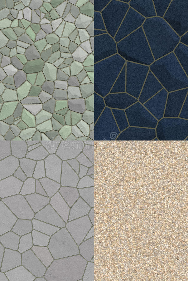Collage of stone textures
