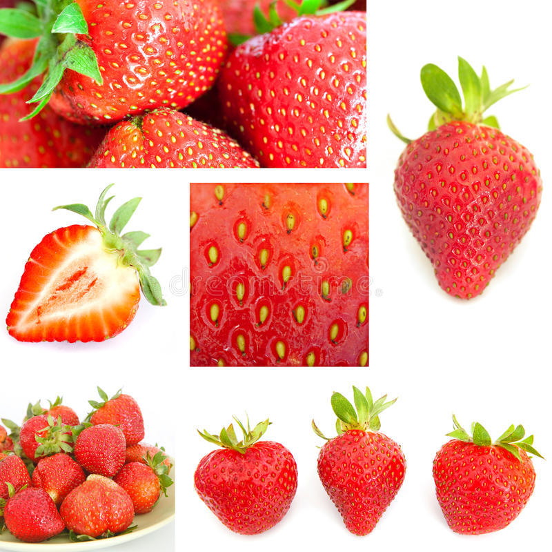Collage Of Strawberry Royalty Free Stock Image